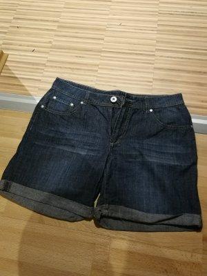 BC Collection Pantalón corto de tela vaquera azul oscuro
