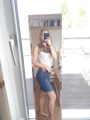 H&M L.O.G.G. Short en jean bleu