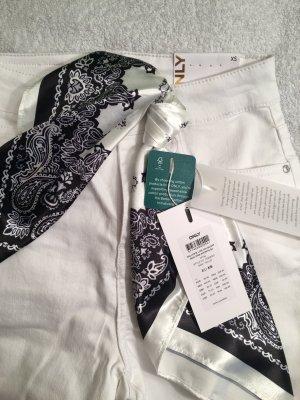 Only Pantalone cinque tasche bianco-nero