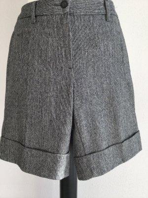Benetton Pantalone di lana nero-bianco Tessuto misto