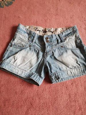 two days later pantalón de cintura baja azul