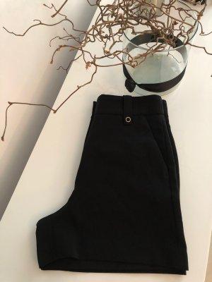 Zara Spodnie z wysokim stanem czarny