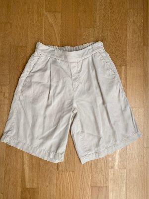 Woolrich Pantalón corto de talle alto crema-beige claro lyocell