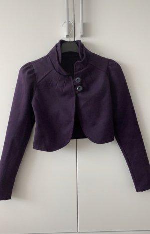 keine Boléro violet foncé laine