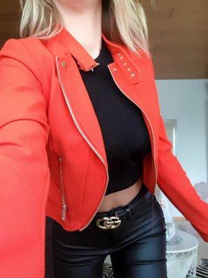 kurze Jacke in Corail Rot