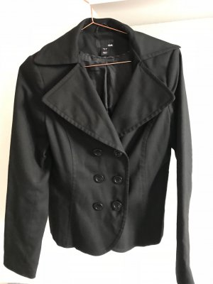 Kurze Jacke in schwarz, H&M, Größe 38