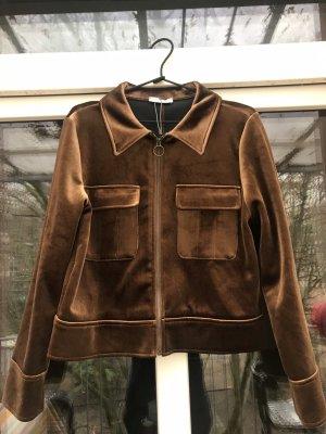 Kurze Jacke mit Reißverschluss