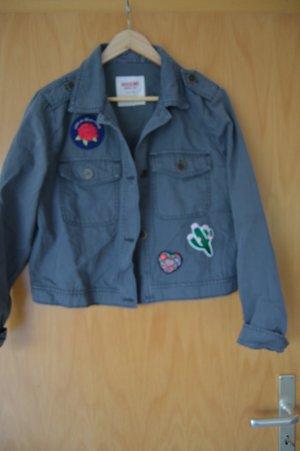 kurze Jacke, navy/grau, Gr. L, nie getragen