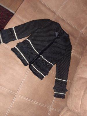 Zara Chaqueta corta blanco-negro