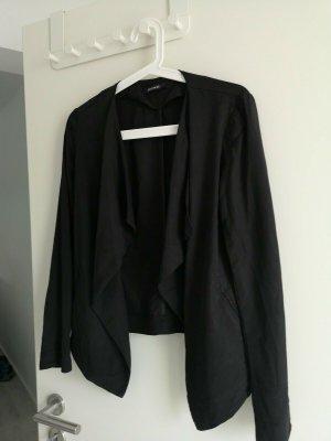 kurze Jacke Wasserfall Blazer Cardigan Promod 36 Schwarz neuwertig