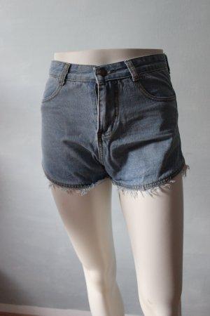 Short en jean bleu pâle-bleu azur