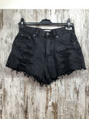 Pull & Bear Short en jean noir