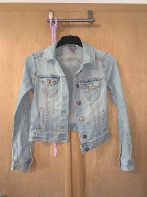 Kurze Jeans Jacke hellblau