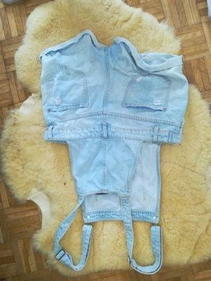 H&M Pantalón corto tipo peto azul claro
