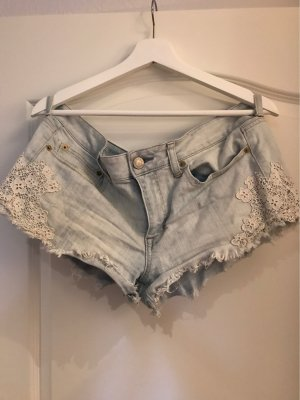 American Eagle Outfitters Short lichtblauw-wit