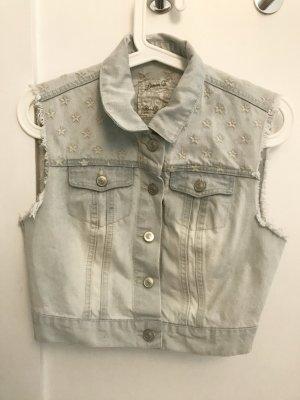 Kurze Jeans-Weste