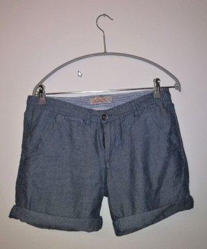 40Weft Short bleu acier coton