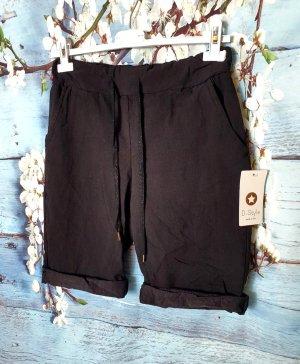 Denim Shorts black-silver-colored