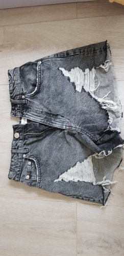 Zara Pantaloncino di jeans nero-antracite
