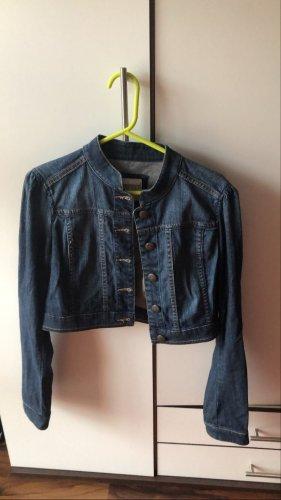 Esprit Jeansowa kurtka ciemnoniebieski-szary niebieski