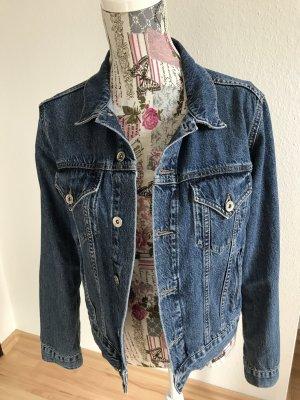 kurze Jeansjacke in used-Optik