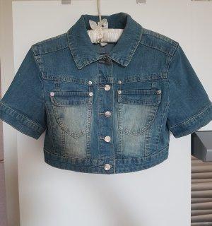 kurze Jeansjacke mit kurzen Ärmeln, Top-Qualität, XS/S, NEU