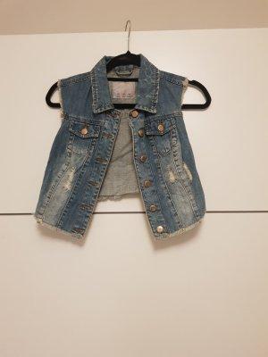kurze jeansjacke/weste