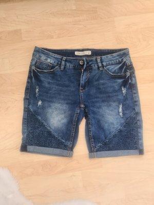 Sublevel Pantalón corto de tela vaquera azul oscuro