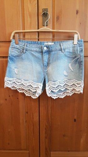 Janina Denim Shorts white-cornflower blue