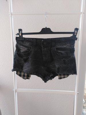 Denim Co. Short en jean gris anthracite-noir coton
