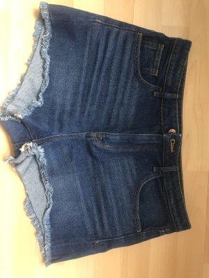 H&M Spodnie z wysokim stanem niebieski