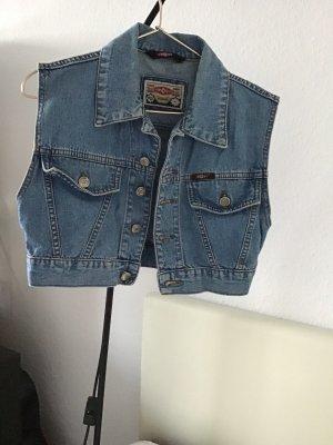 Denim Vest steel blue cotton