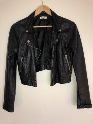 H&M Chaqueta de motociclista negro