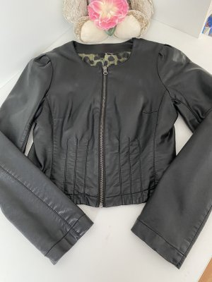 H&M Faux Leather Jacket black