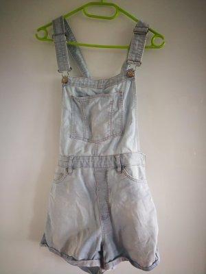 H&M Divided Pantaloncino con bretelle azzurro