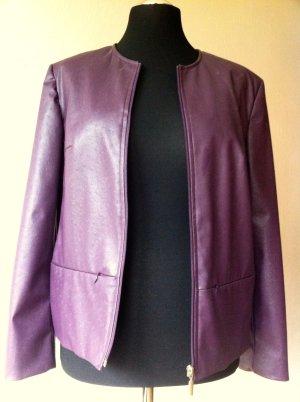 Avitano Veste courte bleu violet faux cuir