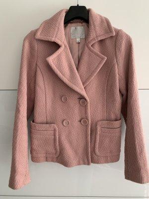 Amisu Abrigo de piloto rosa empolvado