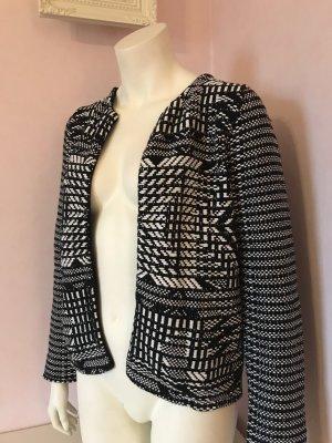 Kurze offene Jacke von H&M - schwarz/weiß geknöpft