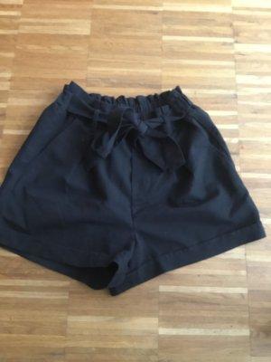 Tally Weijl High-Waist-Shorts black cotton
