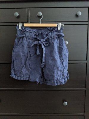 kurze paperbag Leinen Shorts