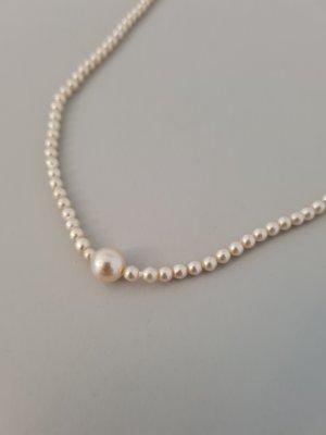 Vintage Collana di perle crema-bronzo
