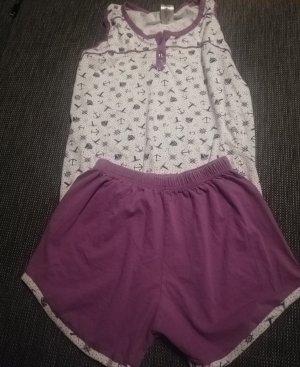 Pyjama white-blue violet