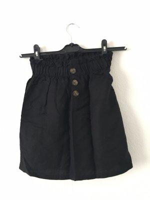 Bershka Falda de lino negro
