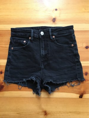 H&M Divided Shorts black-silver-colored