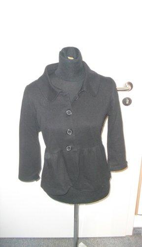 kurze schwarze Jacke - Knöpfe - Kragen - H&M - Größe S/M