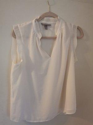 H&M DENIM Blusa in seta bianco sporco-crema