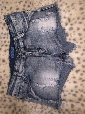 Short en jean bleuet