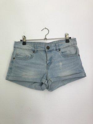 kurze Shorts Jeansshorts kurze Hose in 36 blau hellblau