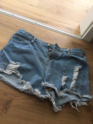 Sheinside Hot pants blu