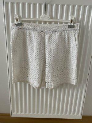 Claudie Pierlot High-Waist-Shorts white cotton
